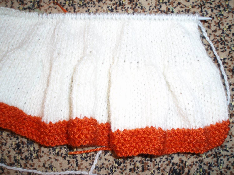 Вязание оборки для юбки спицами