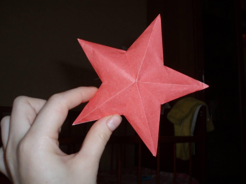 Пятиконечная звездочка из бумаги своими руками 49